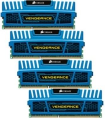 Corsair Vengeance Blue 16GB DDR3 1600MHz / 4x4GB KIT / CL9 / 1.5V