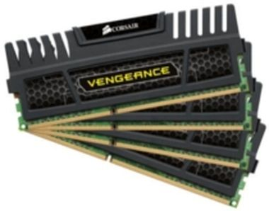 Corsair Vengeance Black 16GB DDR3 1600MHz / 4x4GB KIT / CL9 / 1.5V