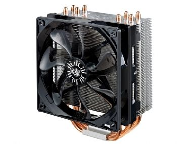 Cooler Master Hyper 212 EVO / 120 mm / Sleeve Bearing / 31 dB @ 1600 RPM / 66.3 CFM / Intel + AMD