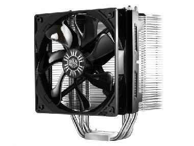 Cooler Master Hyper 412S / 120 mm / Sleeve Bearing / 22.5 dB @ 1300 RPM / 52.6 CFM / Intel + AMD