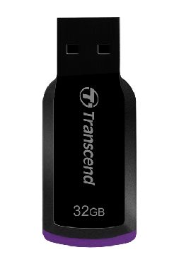 Transcend JetFlash 360 32GB / Flash Disk / USB 2.0 / černo-fialový
