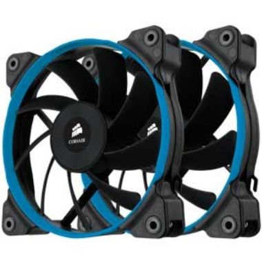 Corsair AF120 Quiet Edition Twin Pack / 2x 120 mm / Hydraulic Bearing / 21 dB @ 1100 RPM / 67.8 m3h / 3-pin
