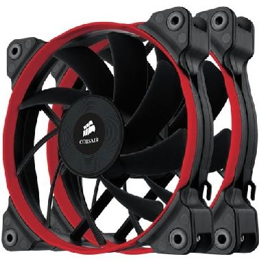 Corsair AF120 Performance Edition Twin Pack / 2x 120 mm / Hydraulic Bearing / 30 dB @ 1650 RPM / 107.8 m3h / 3-pin