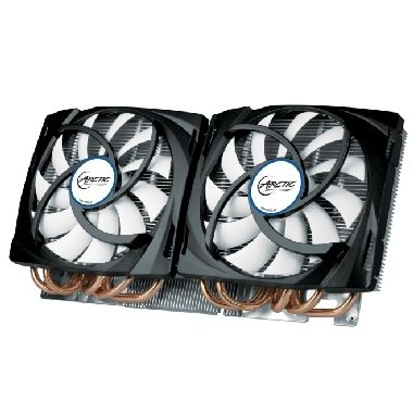 ARCTIC Accelero Twin Turbo 690 / TDP 400W / 2x 120 mm / Fluid Dynamic Bearing / 0.4 Sone @ 1500 RPM / GTX 690