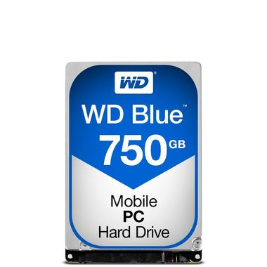 "WD Blue 750GB / HDD / 2.5"" SATA III / 5 400 rpm / 8MB cache / 9.5mm / 2y"