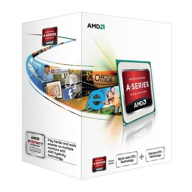 AMD A4-4000 @ 3.0GHz / Turbo 3.2GHz / 2C2T / 96kB L1, 1MB L2 / Radeon HD 7480D / Socket FM2 / Piledriver-Richland / 65W