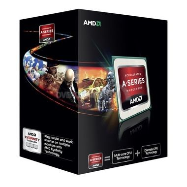 AMD A6-6400K @ 3.9GHz / Turbo 4.1GHz / 2C2T / 96kB L1, 1MB L2 / Radeon HD 8470D / FM2 / Piledriver-Richland / 65W