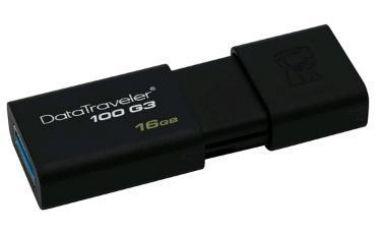 Kingston DataTraveler 100 G3 16GB / Flash Disk / USB 3.0 / černá