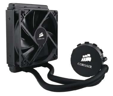 Corsair Hydro H60 / 120 mm / Hydraulic Bearing / 30.32 dB @ 1700 RPM / 57 CFM / Intel + AMD