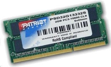 Patriot 2GB DDR3 SO-DIMM 1333MHz / 1x2GB / CL9