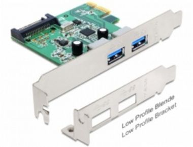 DeLock PCI Express > 2x USB 3.0 + low profile