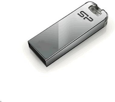 Silicon Power Touch T03 / 8GB / Flash Disk / USB 2.0 / Nerez / Stříbrný