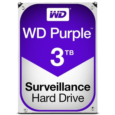 "WD Purple 3TB / HDD / 3.5"" SATA III / 5 400 rpm / 64MB cache / 3y"