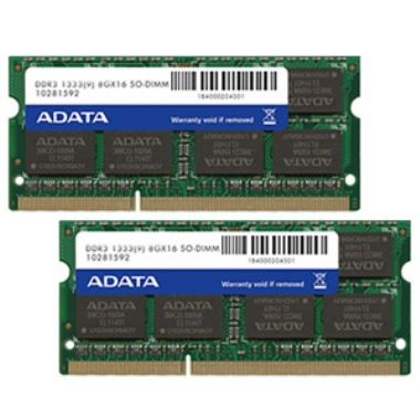 ADATA 16GB DDR3 1333MHz / KIT 2x 8GB / CL9 / SODIMM / RETAIL
