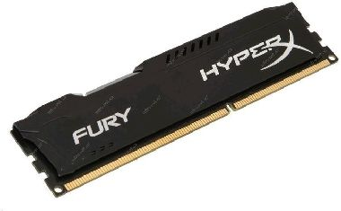 HyperX Fury Black 8GB (1x 8GB) DDR3 1600MHz / CL10 / DIMM / 1.5V / Non-ECC / Un-Registered