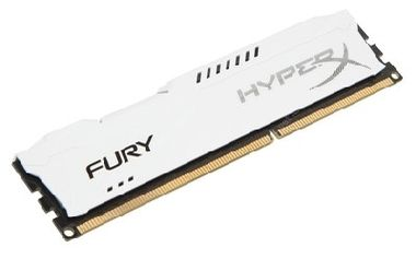 HyperX Fury White 8GB DDR3 1600MHz / 1x8GB /  CL10