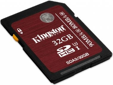 Kingston SDHC 32GB / UHS-I / Speed Class 3 Flash Card / 90MB/s čtení / 80MB/s zápis