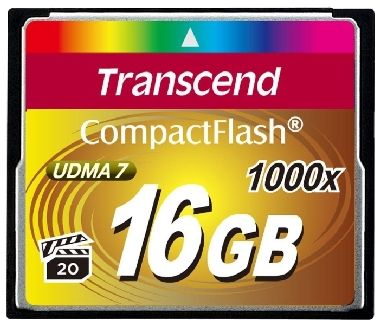 Transcend Compact Flash 16GB Ultimate / CF / 16GB / 1000x