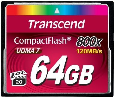 Transcend Compact Flash 64GB Premium / CF / 64GB / 800x