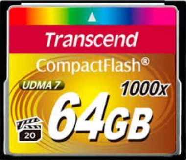 Transcend Compact Flash 64GB Ultimate / CF / 64GB / 1000x