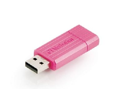 Verbatim Store'n'Go PIN STRIPE USB Flash / 32 GB / USB 2.0 / růžová
