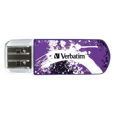 Verbatim Store'n'Go Mini USB Flash / Graffiti edice / 8 GB / USB 2.0 / purpurová