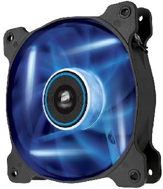 Corsair AF120 LED Blue Quiet Edition / 120 mm / Hydraulic Bearing / 25.2 dB @ 1500 RPM / 88.7 m3h / 3-pin