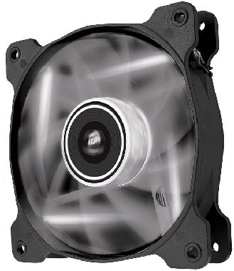 Corsair SP120 LED White /  120 mm / Hydraulic Bearing / 26 dB @ 1650 RPM / 97.3 m3h / 3-pin