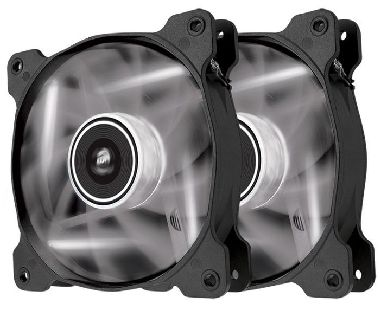 Corsair SP120 LED White Twin Pack / 2x 120 mm / Hydraulic Bearing / 26 dB @ 1650 RPM / 97.3 m3h / 3-pin