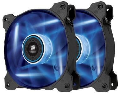 Corsair SP120 LED Blue Twin Pack / 2x 120 mm / Hydraulic Bearing / 26 dB @ 1650 RPM / 97.3 m3h / 3-pin