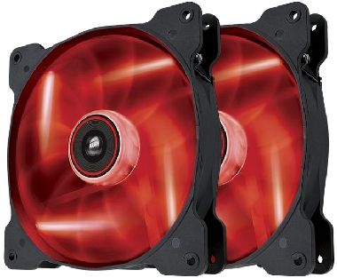 Corsair SP140 LED Red Twin Pack / 2x 140 mm / Hydraulic Bearing / 29.3 dB @ 1440 RPM / 84.1 m3h / 3-pin