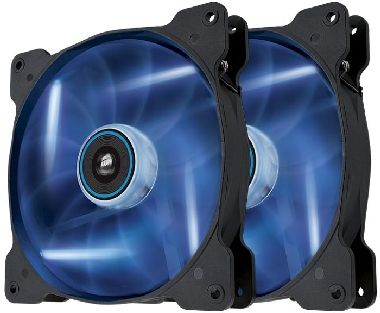 Corsair SP140 LED Blue Twin Pack / 2x 140 mm / Hydraulic Bearing / 29.3 dB @ 1440 RPM / 84.1 m3h / 3-pin