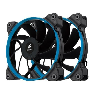 Corsair SP120 Quiet Edition Twin Pack / 2x 120 mm / Hydraulic Bearing / 23 dB @ 1450 RPM / 64.3 m3h / 3-pin