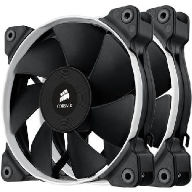 Corsair SP120 Performance Edition Twin Pack / 2x 120 mm / Hydraulic Bearing / 35 dB @ 2350 RPM / 106.6 m3h / 3-pin