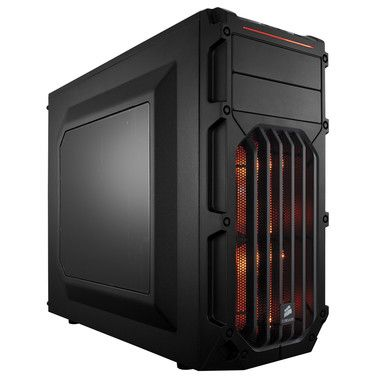 Corsair Carbide SPEC-03 Orange LED / ATX / 2x USB 3.0 / 4x 120 mm + 2x 140 mm / Průhledná bočnice