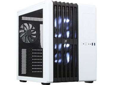 Corsair Carbide 540 White / E-ATX / 2x USB 2.0 + 2x USB 3.0 / 5x 140 mm / Průhledná bočnice