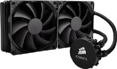 Corsair Hydro H105 / 2x 120 mm / Hydraulic Bearing / 37.7 dB @ 2700 RPM / 73 CFM / Intel + AMD
