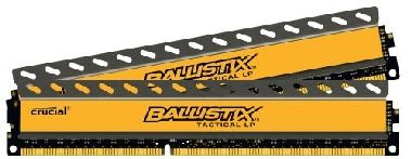 Crucial Ballistix Tactical LP 8GB / 2x4GB / DDR3 / 1600MHz / PC3-12800 / CL8 / 1.35V