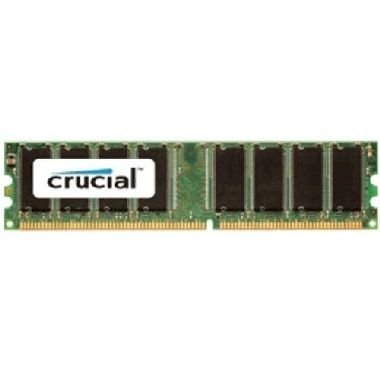 Crucial 1GB DDR / 400MHz / PC-3200 / CL3 / 2.6V