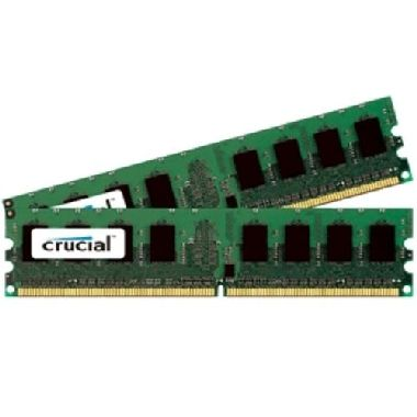Crucial 2GB / 2x1GB / DDR2 / 667MHz / PC2-5300 / CL5 / 1.80V
