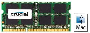 Crucial pro Apple a Mac 8GB / DDR3 SO-DIMM / 1333MHz / PC3-10600 / CL9 / 1.35V/1.50V Dual Voltage