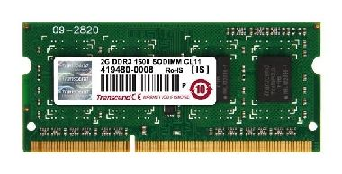 Transcend JetRam 2GB DDR3 1600MHz / 1x2GB / 256Mx8 / CL11