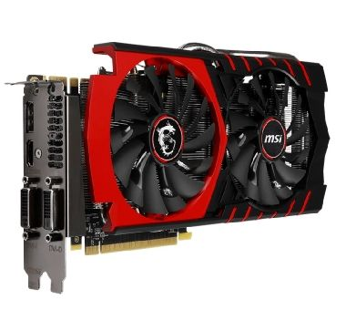 MSI GTX 970 GAMING 4G / 1051-1279MHz / 4GB 7010MHz / 256-bit / 2x DVI + HDMI + DP / 145W (6+8)