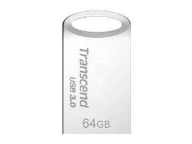 Transcend JetFlash 710S 64GB / Flash disk / USB 3.0 / Stříbrný