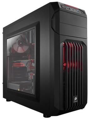 Corsair Carbide SPEC-01 Red LED / ATX / 2x USB 3.0 / 3x 120 mm + 2x 140 mm / Průhledná bočnice