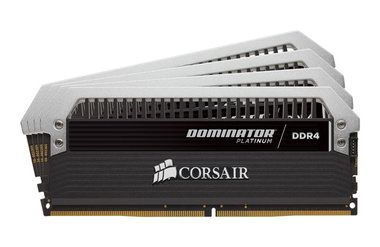 Corsair Dominator Platinum 16GB / 4x 4GB KIT / DDR4 / 3000MHz / CL15 / 1.35V
