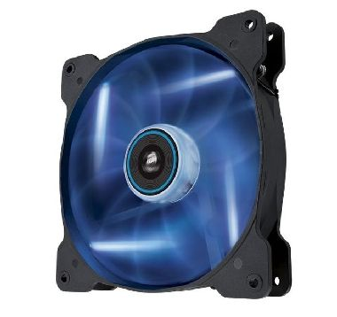 Corsair AF140 LED Blue Quiet Edition / 140 mm / Hydraulic Bearing / 25.5 dB @ 1200 RPM / 112.8 m3h / 3-pin