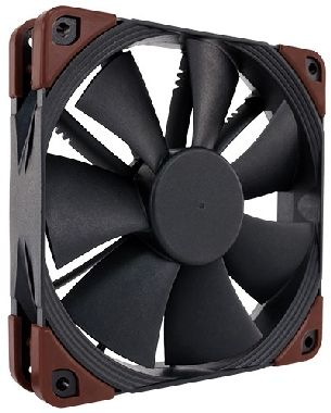 Noctua NF-F12 industrialPPC-2000 PWM / 120 mm / SSO2 Bearing / 29.7dB @ 2000RPM / 122m3h / 3.94mm H2O / 0.1A / 4-pin