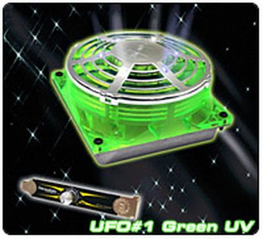 THERMALTAKE A2214 UFO FAN Green UV / Větráček 90x90x38mm / 1300-3600RPM