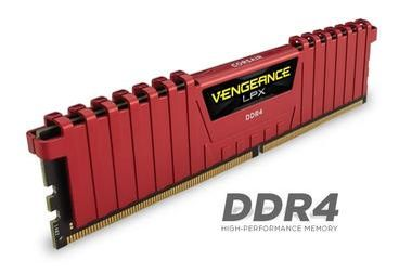 Corsair Vengeance LPX 16GB / 4x 4GB KIT / DDR4 / 2133MHz / CL13 / 1.2V / Červená